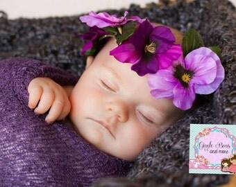 Baby floral crown - newborn floral crown - flower crown - newborn headband - newborn first headband - baby headband - newborn crown - baby