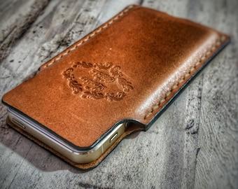 leather phone sleeve, phone case, iphone 5, iphone 6, iphone 6plus