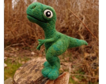 Custom soft sculpture dinosaur listing - for a OOAK needle felted dinosaur figurine/collector's toy art/ decorative item