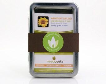 Sunflower Garden Gift Set Seed Collection - Non-GMO, Open Pollinated, Flower Garden Seed Kit, Pollinator Garden Kit