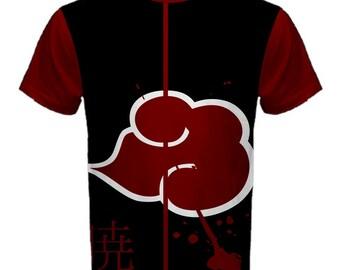 Naruto, Shirt, Anime, Akatsuki, Manga, T-Shirt, Sasuke, Itachi, Black, Red, Manga Shirt, Anime Shirt, Men's Shirt, Uchiha, Shippuden, Pain