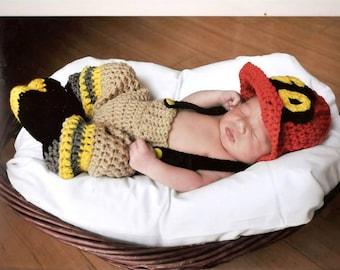 Crochet Fireman Photo Prop Set