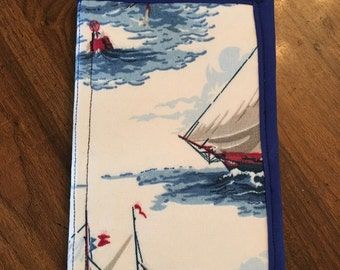 Handmade Kindle, Small Tablet Case, Cover, Nautical