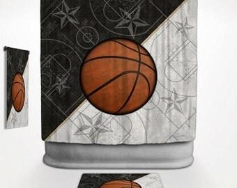 Basketball Stars Shower Curtain Basketball Stars Bath Decor Sports Bathroom Sports Shower