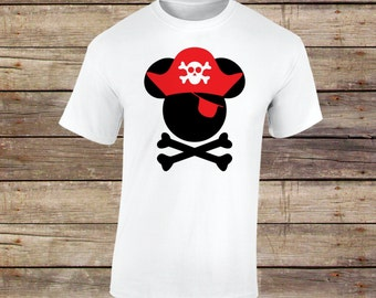 Mickey Pirate Shirt, Mickey Skull Shirt, Mickey, Mickey Shirt, Pirate Shirt, Pirate, Halloween, Halloween Shirt, Disney, Disney Shirt, Skull