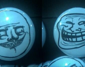 Meme - Troll face & Me Gusta 25mm badges