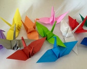 50 Small Origami Crane * Assorted Colors *