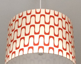 Wavelength Red, 30cm Dia Lampshade