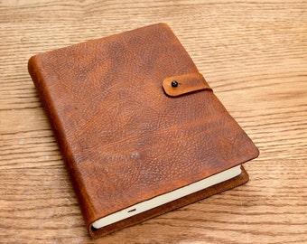 NKJV journaling Bible, Full Grain Cowhide Leather
