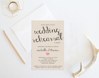 DIY Printable Wedding Rehearsal Dinner Invitation, Wedding rehearsal invitation, Rehearsal Dinner Invite