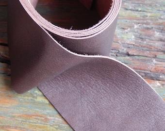 Reindeer leather strip for Sami Bracelet, 50mm wide x 20cm strip (makes 1 bracelet) ANTIQUE BROWN