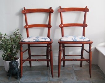 Antique Edwardian mahogany bedroom/occasional chairs Early 20th century