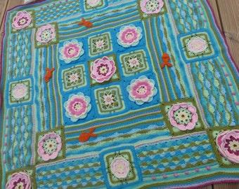 Lily Pond Crochet Blanket a Jane Crowfoot design