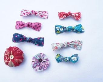 Barrette hair clip - baby - barrette girl - Strip fabric node - flower barrette barrette - clip hair - head band