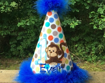 1st Birthday Monkey Party Hat