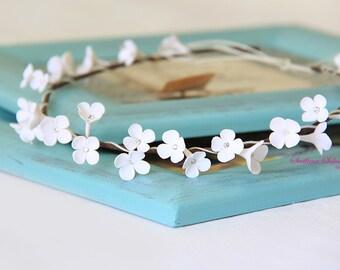Wedding accessories, bridal headpiece, wedding flower crown, Flower head wreath, wedding headband, bridal hair, Swarovski crystal