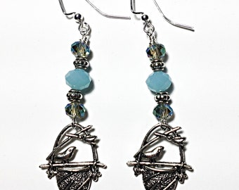 Bird In A Nest Earrings