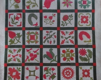 Patchwork-chart and instructions to complete a quilt