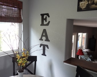 Eat sign - Eat - Kitchen Art - Wall Art - Home Decor - Metal Eat Sign