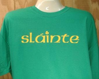 "Irish ""Slainte"" Ireland St. Patrick's Day Cotton T-shirt Small-XXXL"