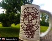 Wild Hare Jack-A-Lope Logo Stein w/ Whisker Dam