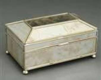 Antique Mirror Tea Caddy Box