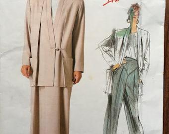 Vogue 1854 Issey Miyake Women's Jacket Skirt Pants Sewing Pattern Bust 36 Size 14 Fabulous detailing.