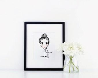 Rosy Cheeks - Fashion Illustration Portrait