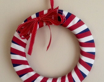 Red, white, and blue patriotic wreath