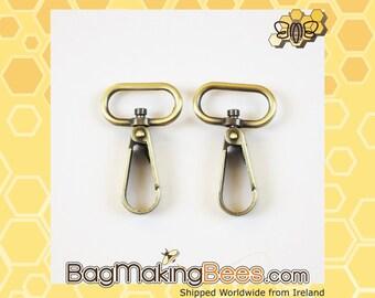 3/4 Inch Antique Gold Swivel Snap Hook [Set Of 2]