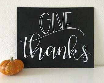GIVE THANKS chalkboard 11x14