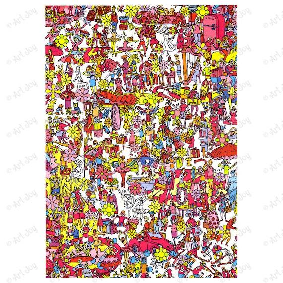 decoupage paper scrapbook paper doodle colored doodle car