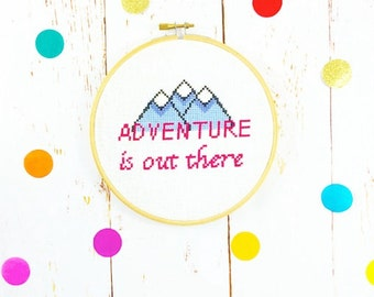 Cross Stitch Kit *** Adventure is out there ***