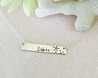 Personalized Handstamped Sterling Silver Name Necklace
