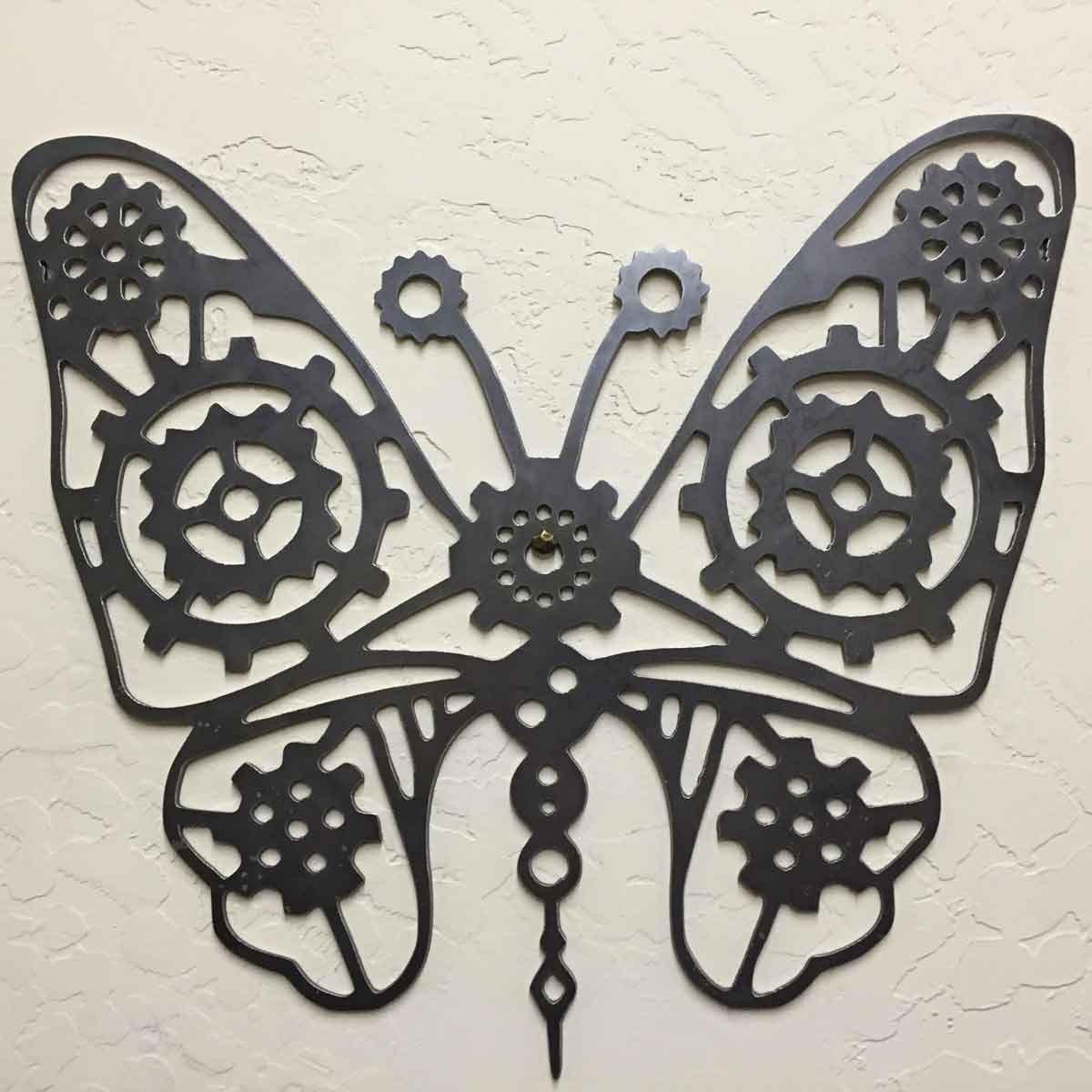 Etsy Butterfly Wall Decor : Steel steampunk butterfly wall decor by louswelding on etsy