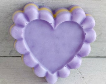 Lavender Citrus Heart Soap Bar, Lavender Heart Soap Favor, Lavender Scented Soap, Lavender and Orange Soap, Lavender Heart Shaped Soap Vegan