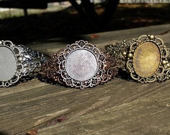 Sweet~Face Metal Cuff Photo Bracelet