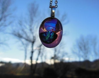 Handmade Fused-Glass Necklace