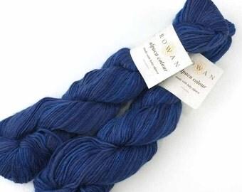 LOT OF 2 - Rowan Alpaca Colour in Blue John, #140, baby alpaca knitting yarn