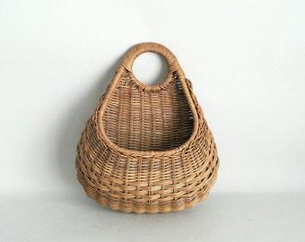 Woven Wicker Wall Basket