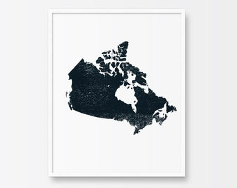 Canada Map Print Map of Canada Country Map Poster Canadian
