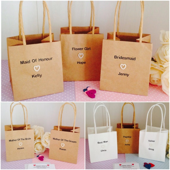 Personalised Wedding Party Mini & Small Sized Gift BagsPersonalised ...