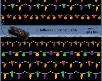 Halloween String Lights Clipart