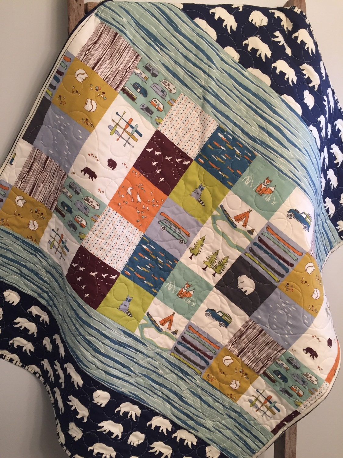Woodland Baby Quilt Organic Baby Quilt By 31rubiesquiltstudio