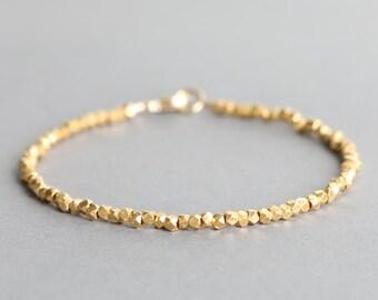 Simple Gold Bracelet Karen Hill Gold Vermeil Bracelet Stacking Bracelet Minimal Bracelet