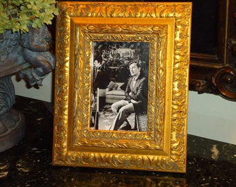 Vintage, Double Gold Photo Frame, 4 by 6 inch Photo Vertical or Horizontal Display