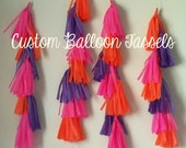 Custom Balloon Tassels 4ft
