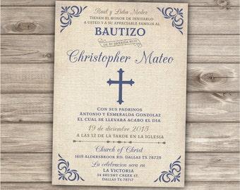 Bautizo Spanish Baptism Invitations NV531