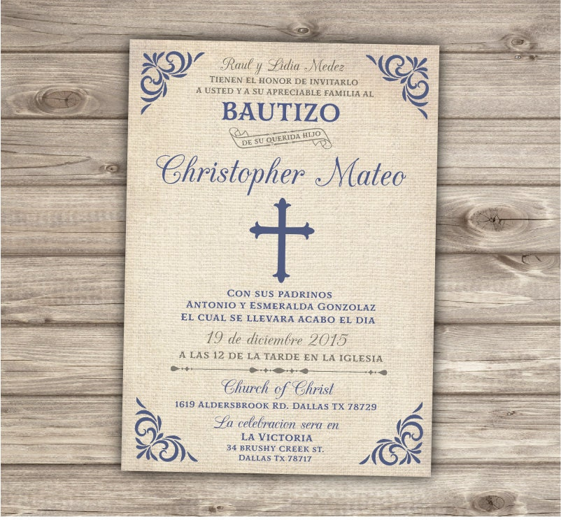 Spanish baptism invitations gangcraft spanish invitation etsy baptism invites stopboris Gallery