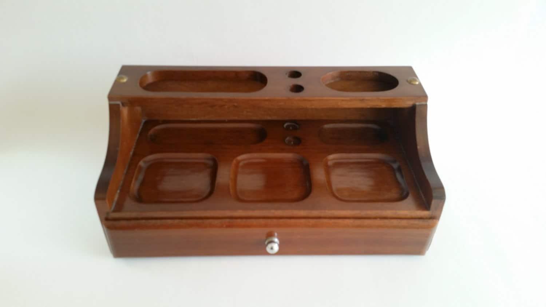 Vintage Mens Valet Box Valet Tray Dresser Top Valet